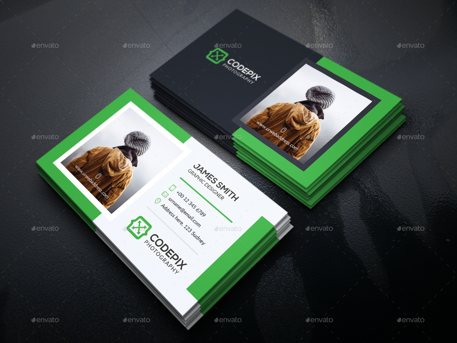 Personal Photography Business Card by UXcred | GraphicRiver