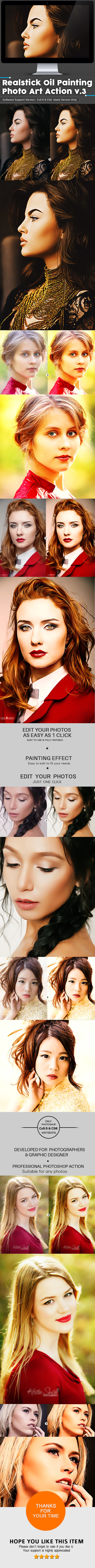 Realstick Oil Painting Photo Art Action v.3 - Photo Effects Actions