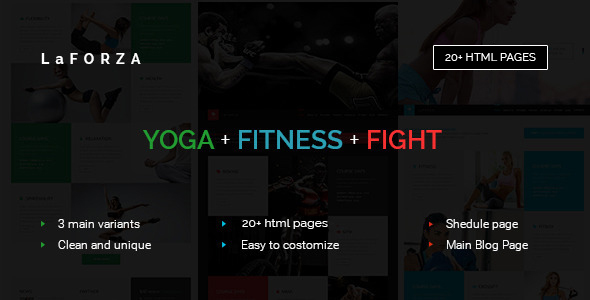 LaFORZA - Sport, Fitness & Yoga HTML - Health & Beauty Retail