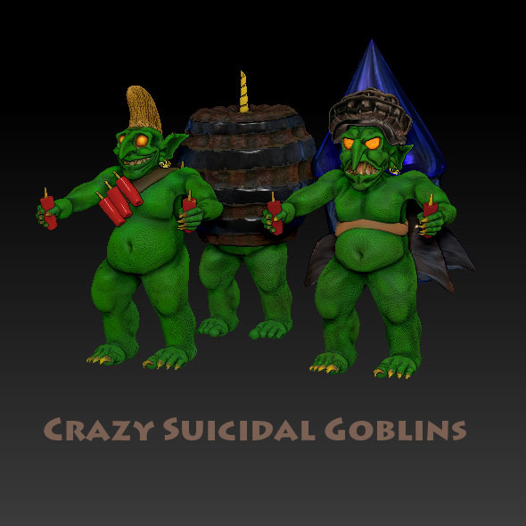 Crazy Suicidal Goblins - 3DOcean Item for Sale