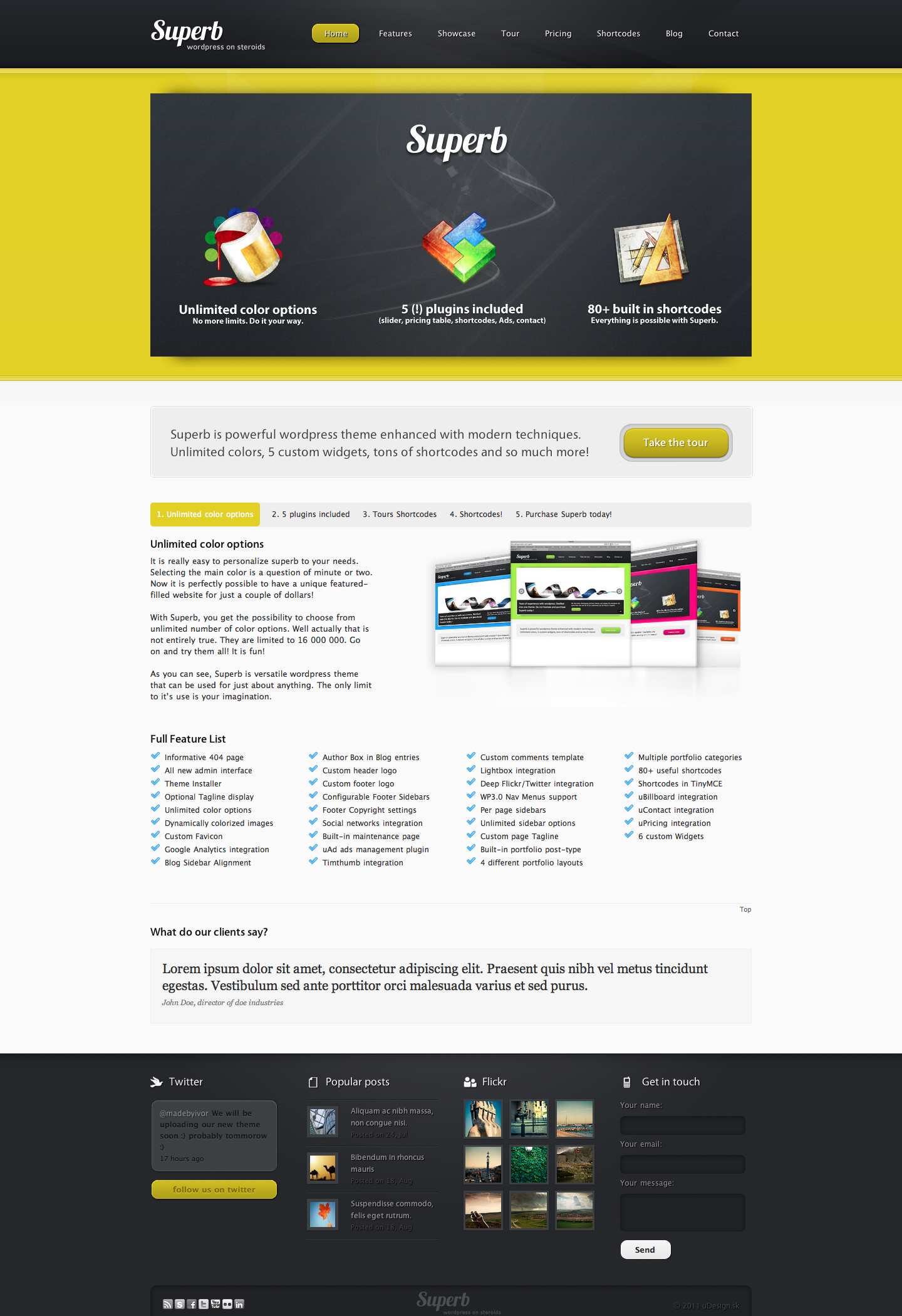 Superb - powerful wordpress theme by uDesignStudios | ThemeForest