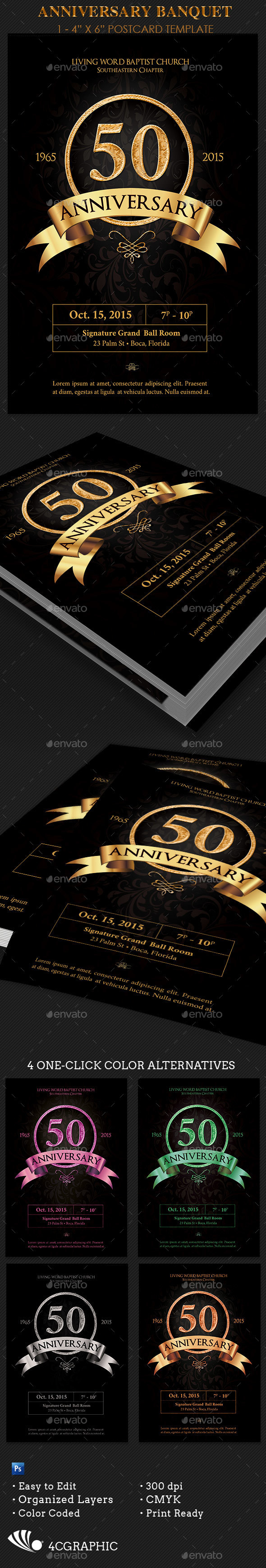 Anniversary Banquet Flyer Template - Events Flyers