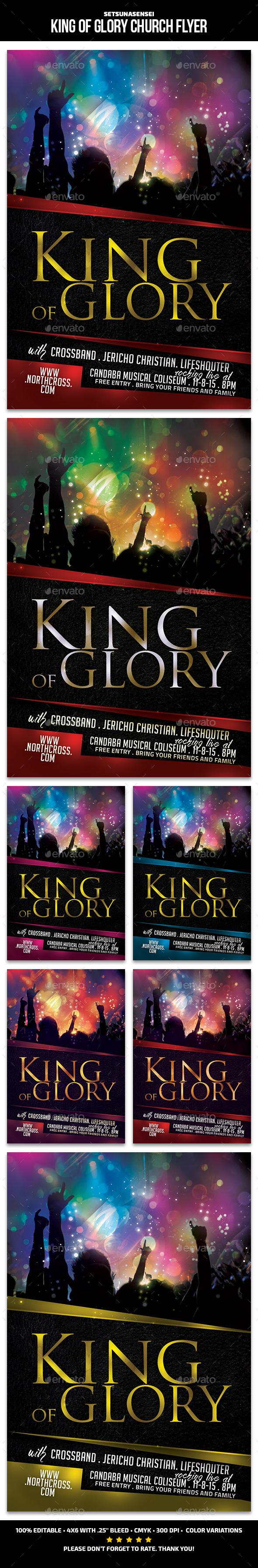 King of Glory Church Flyer - Church Flyers