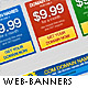Web banners with 16 styles and colors - GraphicRiver Item for Sale