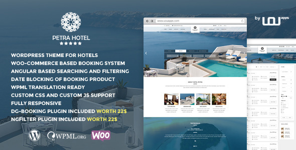 Petra – Hotel, Resort, Bed & Breakfast WP theme