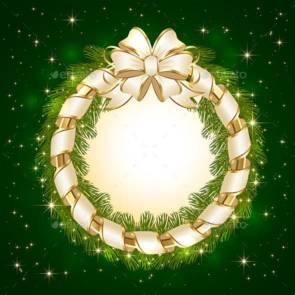 Christmas Decoration on Green Background - Christmas Seasons/Holidays