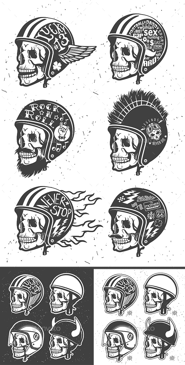 Helmet with Skull - People Characters