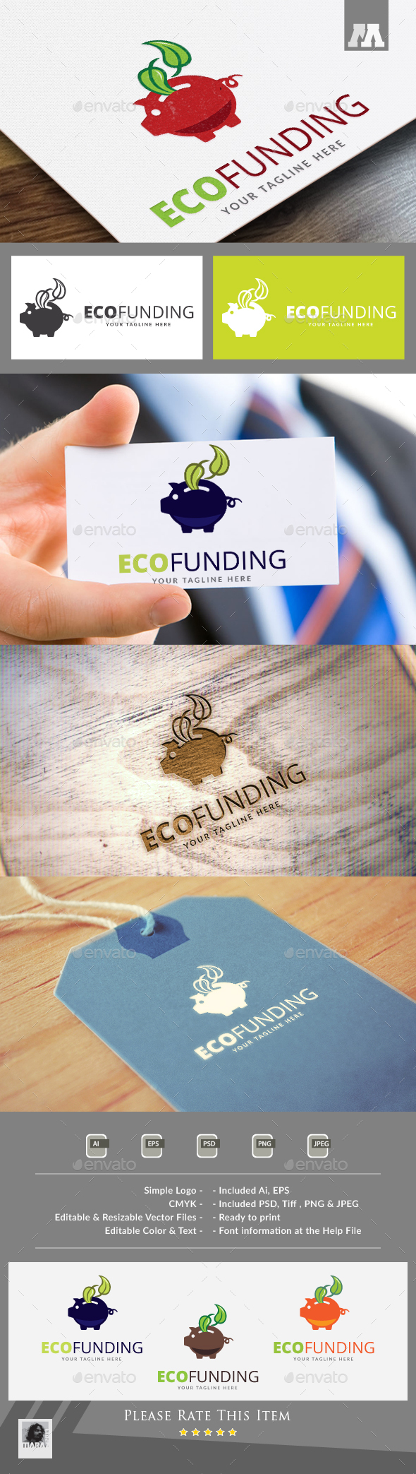 Eco Funding Logo - Nature Logo Templates