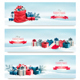 Holiday Christmas Banners With Presents - GraphicRiver Item for Sale