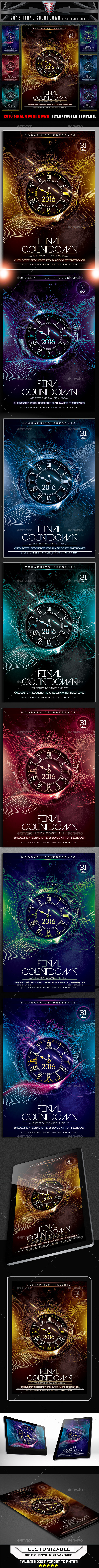 2016 Final Count Down Flyer Template - Clubs & Parties Events