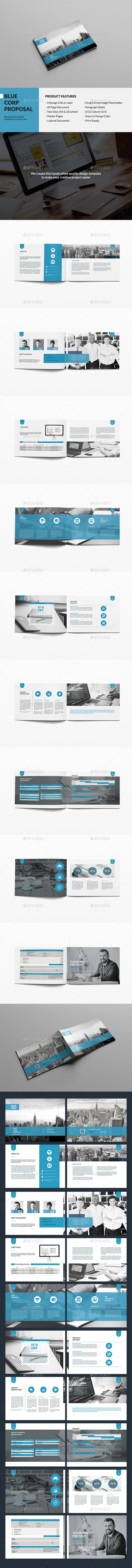 Blue Corp Proposal - Proposals & Invoices Stationery
