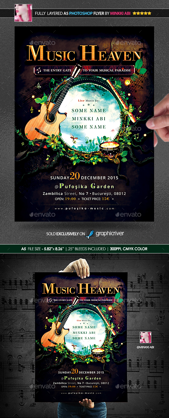 Music Heaven Poster/Flyer - Events Flyers