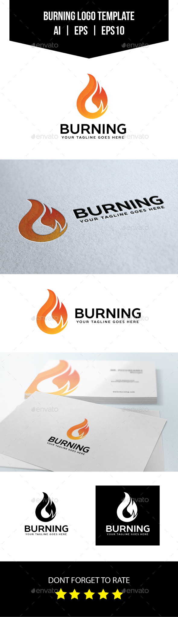 Burning Logo Template - Symbols Logo Templates