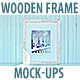 Wooden Picture Frame Mockup - GraphicRiver Item for Sale