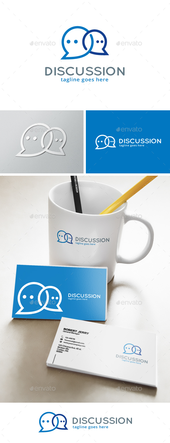 Discussion Logo - Objects Logo Templates