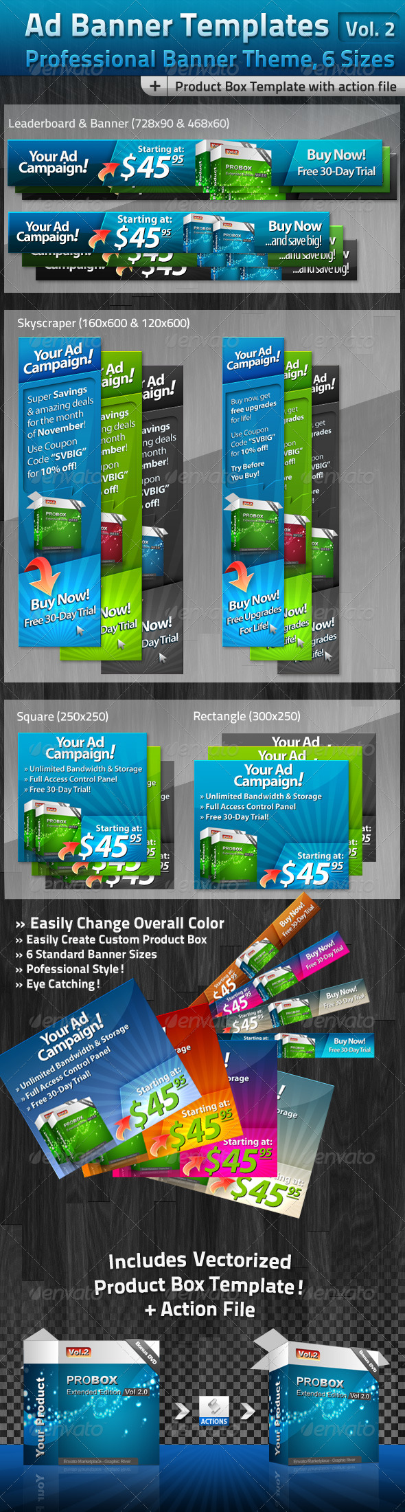 Ad Banner Template Collection Vol. 2 - Banners & Ads Web Elements