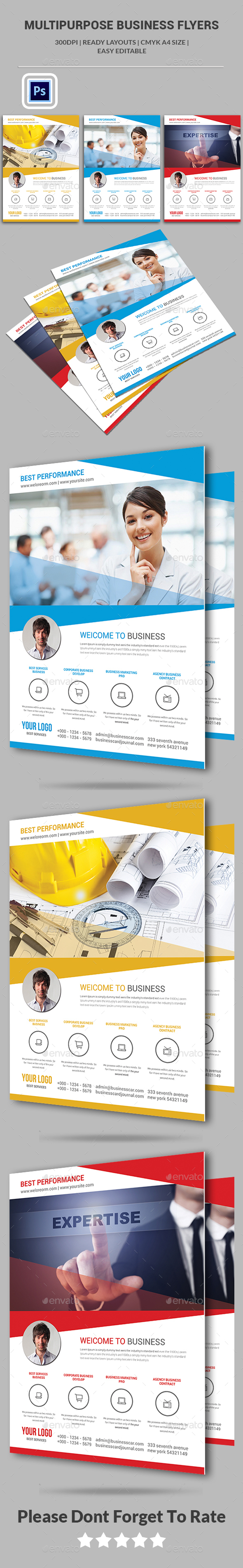 Multipurpose Business Flyers - Corporate Flyers