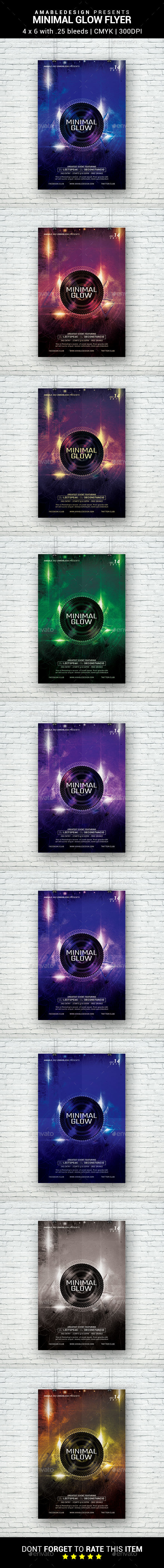 Minimal Glow Flyer - Clubs & Parties Events