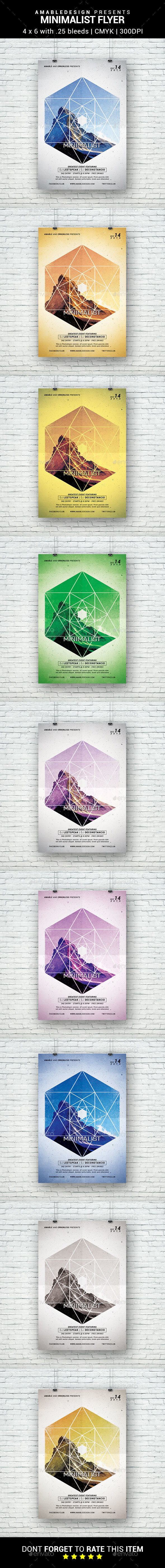 Minimalist Flyer - Clubs & Parties Events