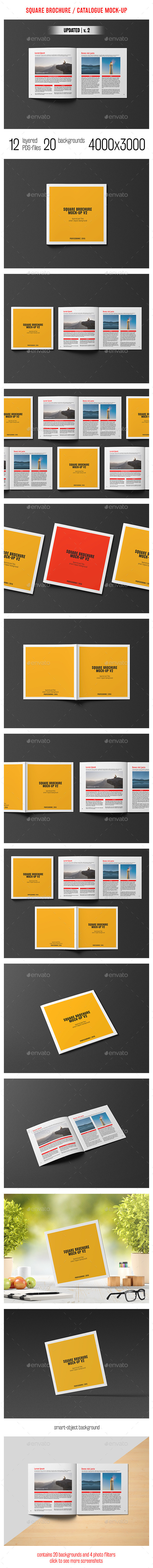 Square Brochure / Catalogue Mockup - Brochures Print