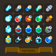 Fantasy Game Icons Set: Potions.  - GraphicRiver Item for Sale