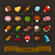 Fantasy Game Icons Set: Food - GraphicRiver Item for Sale