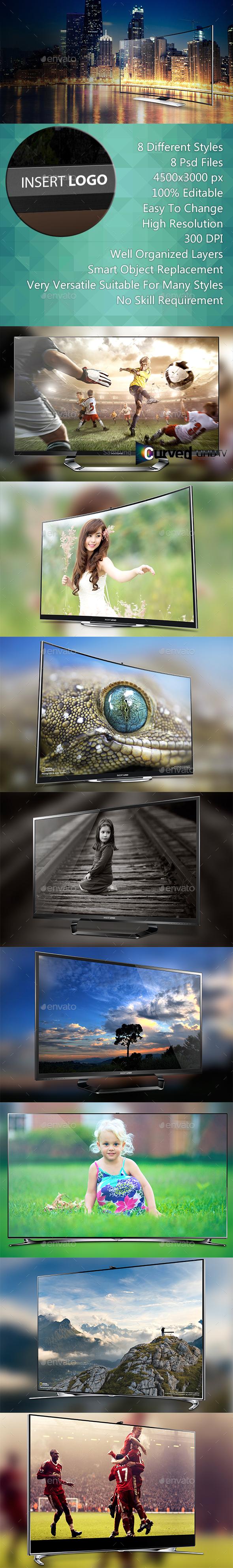 Smart Screen Mockup - UHD TV - TV Displays