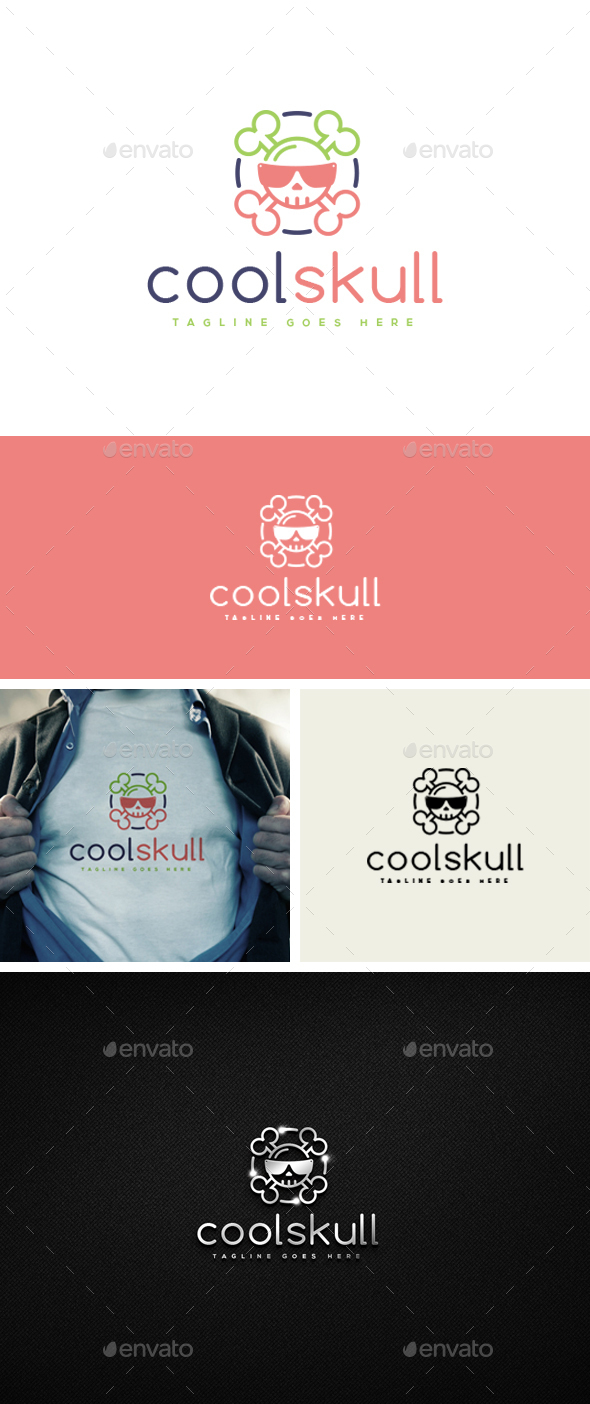 Cool Skull Logo Template - Logo Templates
