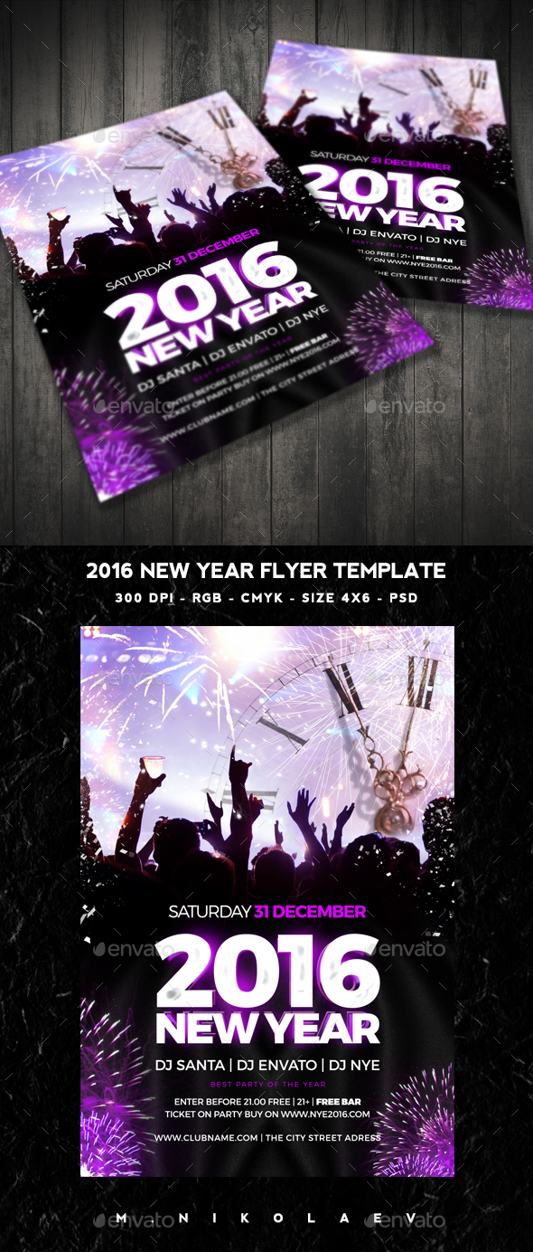 2016 New Year Flyer - Clubs & Parties Events