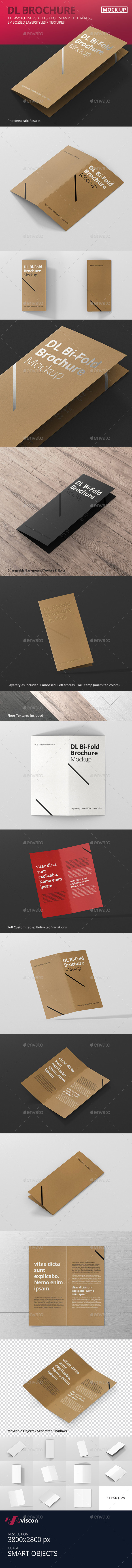 DL Bi-Fold Brochure Mock-Up - Brochures Print