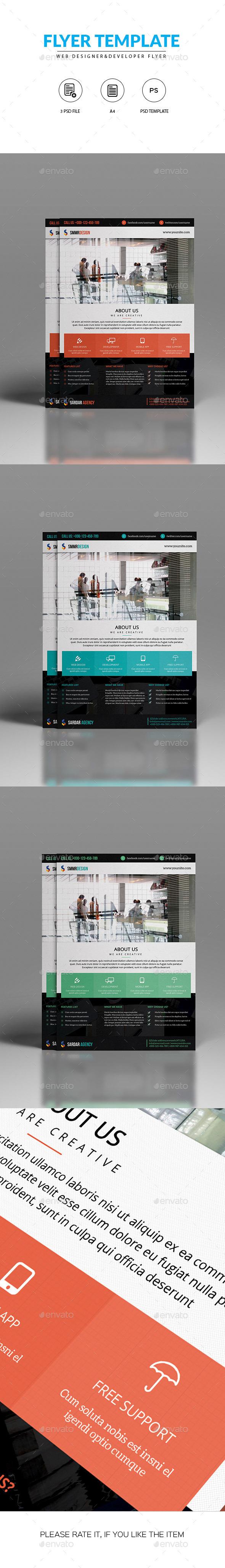 Flyer for Web Designer & Developers - Corporate Flyers