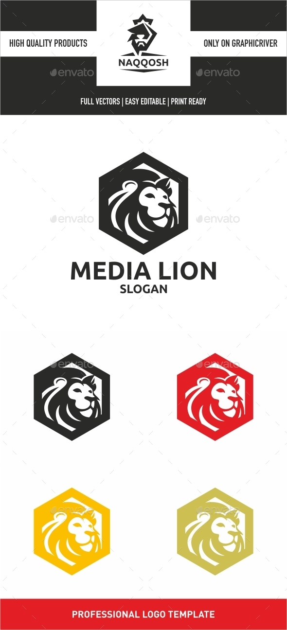 Media Lion  - Symbols Logo Templates