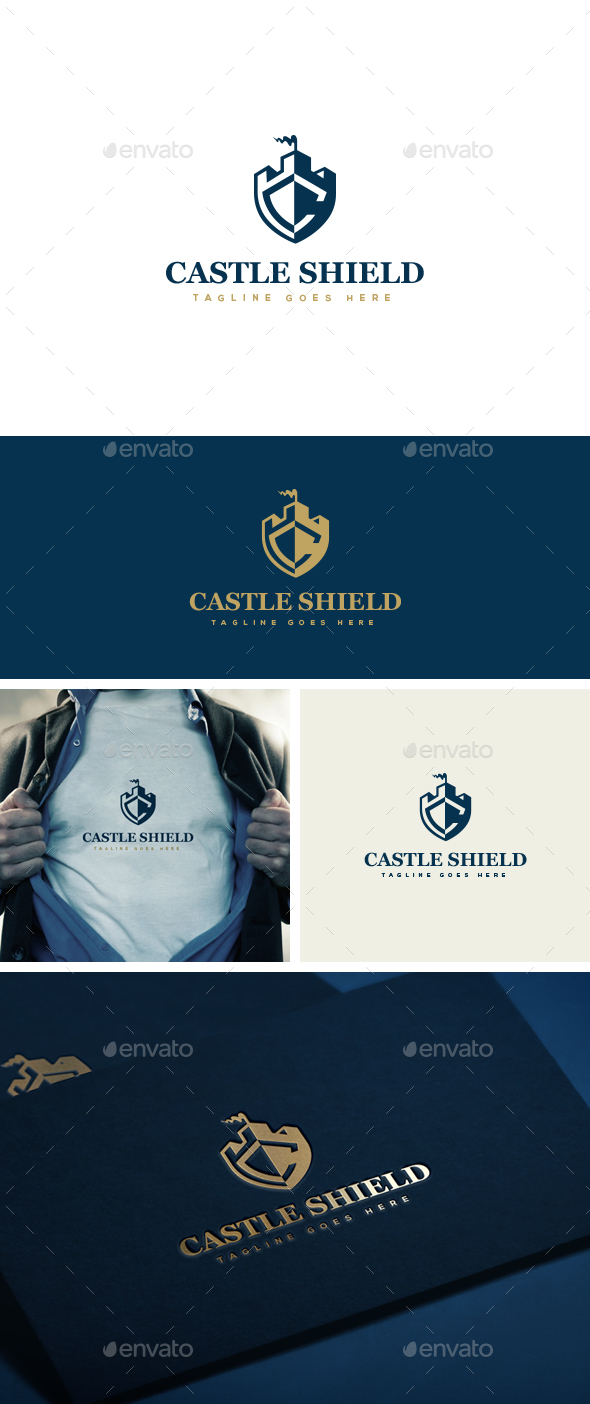 Castle Shield Logo Template - Logo Templates