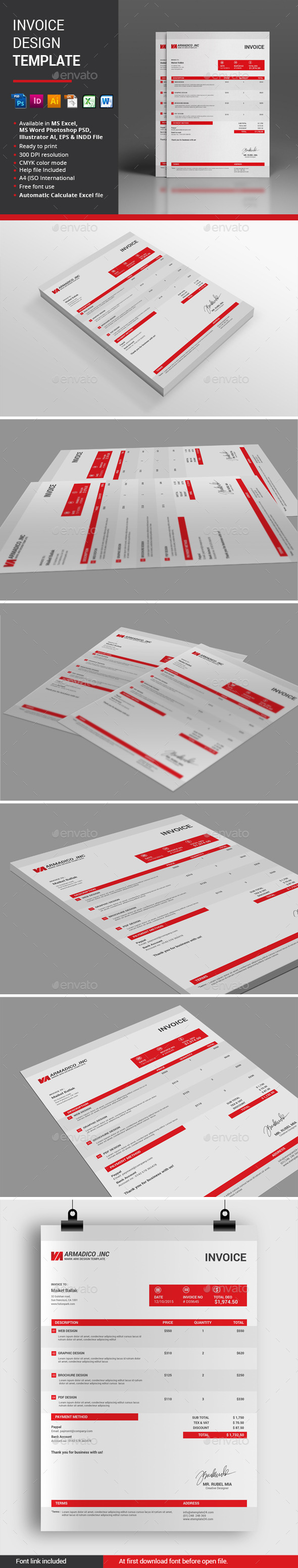Invoice Desgin Template - Proposals & Invoices Stationery