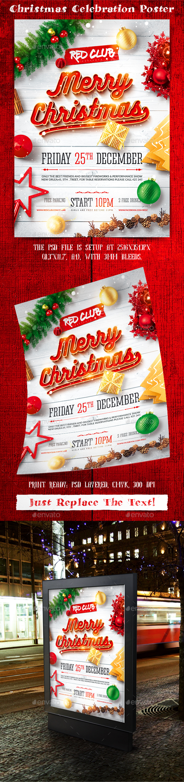 Christmas Celebration Poster - Holidays Events