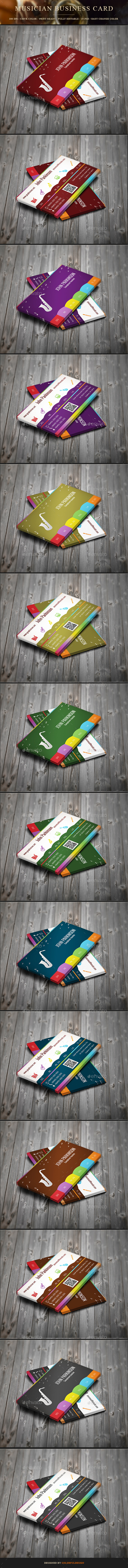 Personal Musician Business Card by colorfuldesign