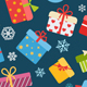 Seamless Patterns Of Gift Boxes - GraphicRiver Item for Sale