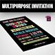 Multipurpose Invitation Template - GraphicRiver Item for Sale