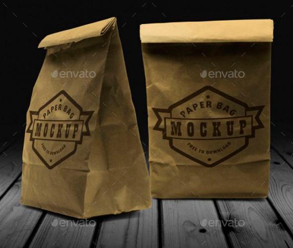 Paper Bag Mockup - Packaging Product Mock-Ups