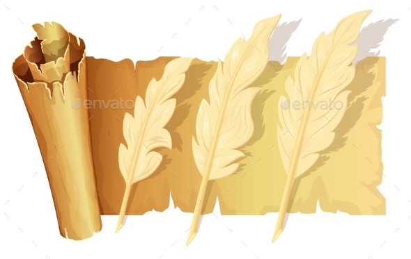 Set Of Goose Feather - Backgrounds Decorative