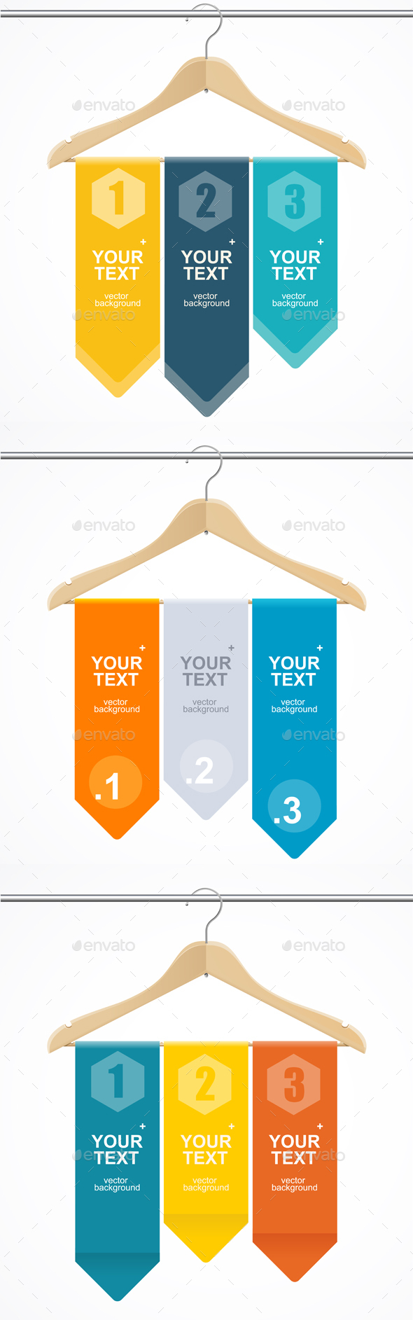 Coat Hanger Wood Like Text Headers. Vector - Commercial / Shopping Conceptual