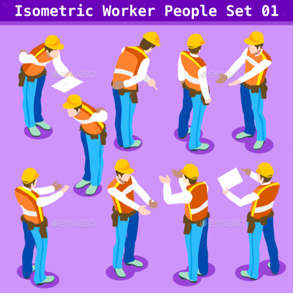 Construction 01 People Isometric - People Characters