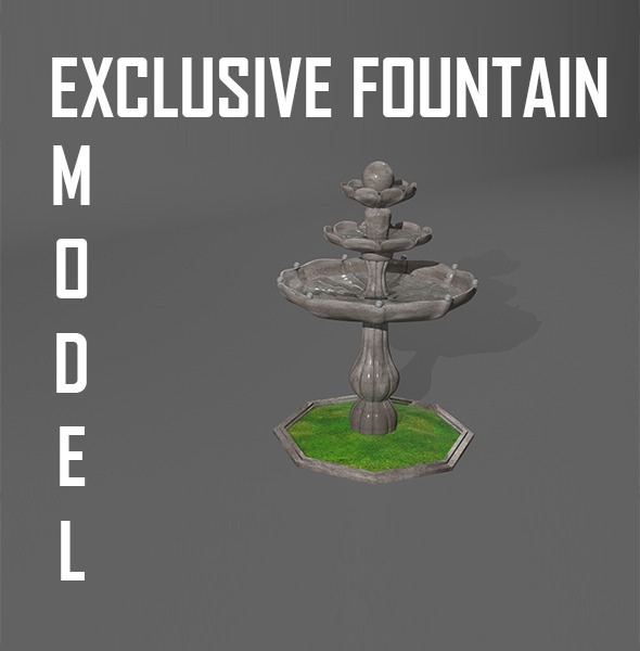 Fountain 3D Model - 3DOcean Item for Sale