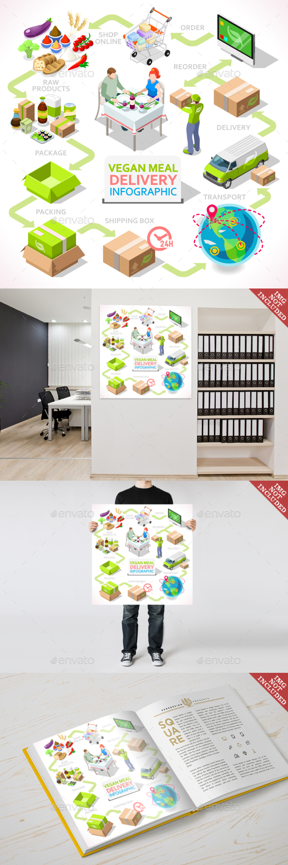 Delivery 03 Infographic Isometric - Business Conceptual