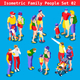 Family Set 02 People Isometric - GraphicRiver Item for Sale
