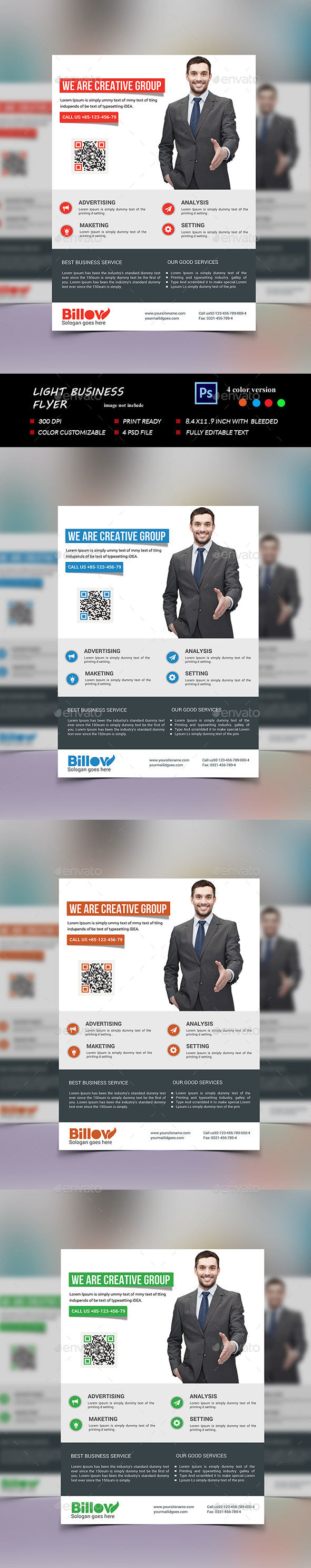Light Business Flyer - Corporate Flyers