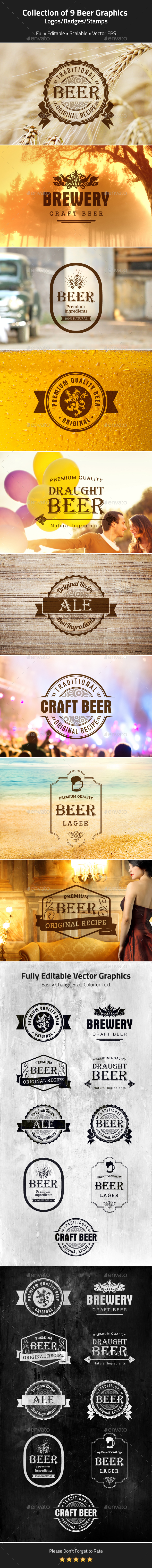 Beer Logos, Badges, Stamps - Badges & Stickers Web Elements