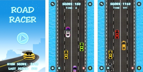 Road Racer - HTML5 Game + Android + AdMob (Capx) - CodeCanyon Item for Sale