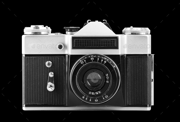 Old photographic camera - Stock Photo - Images