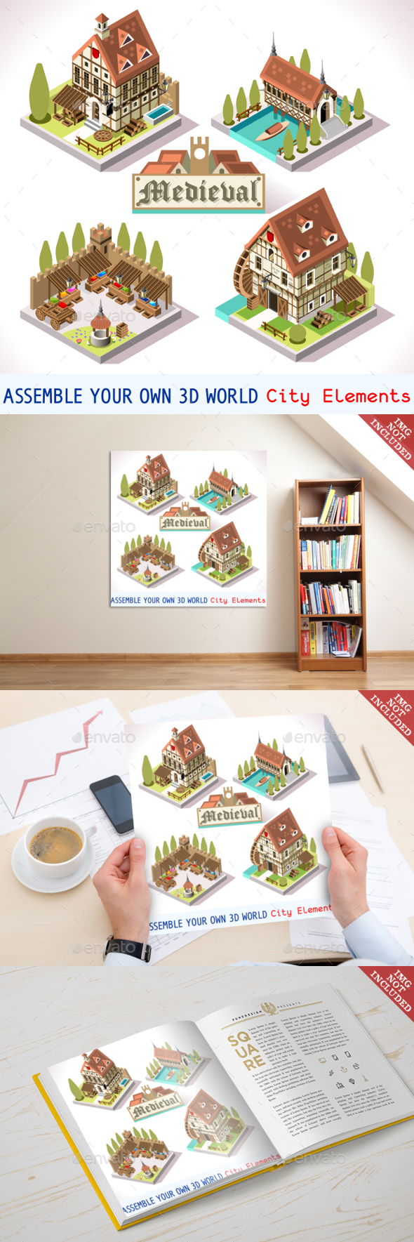 Medieval 03 Tiles Isometric - Buildings Objects